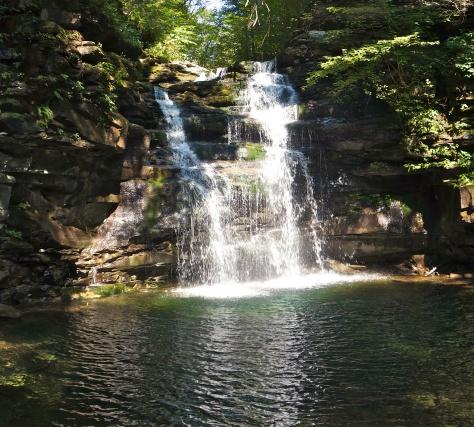 Close up of Big Falls