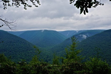 View over the Sinnamahoning Creek Valley