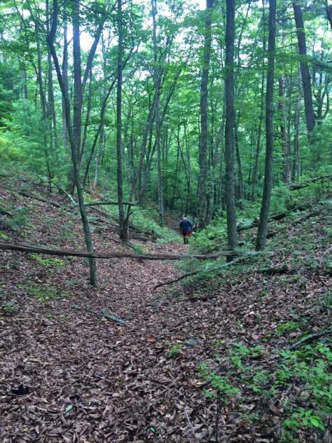 Climbing away from the run