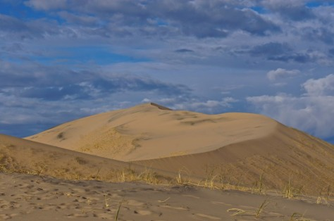 The largest sand dune, our destination
