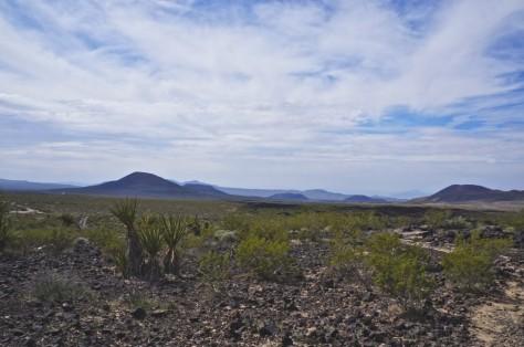 Cinder cones and lava flows