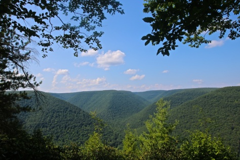 Vista at the end of Jerry Run Road